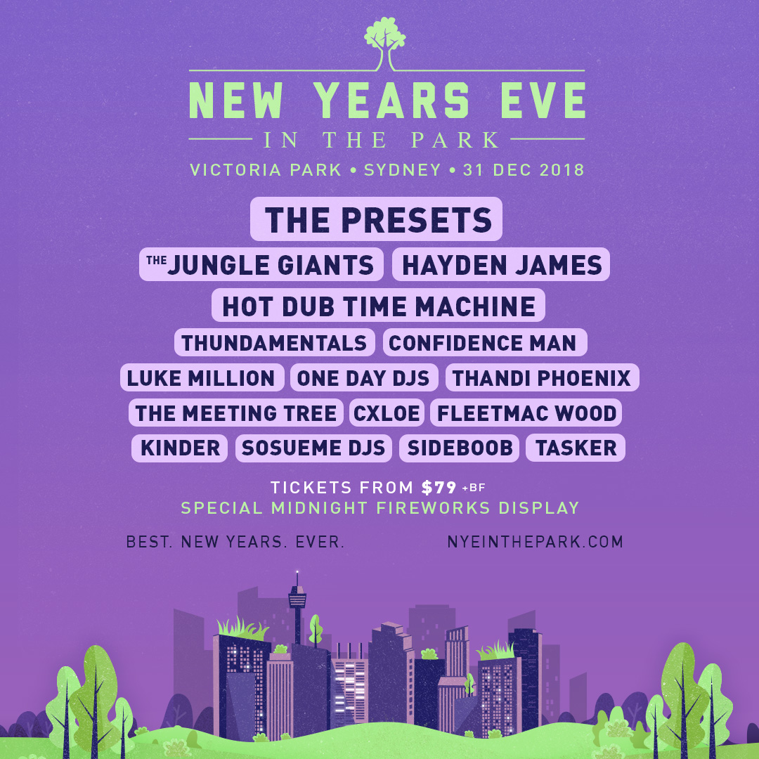 Announcing NYE in the Park 2018