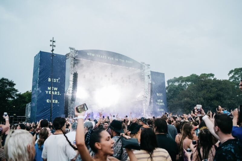 Photo of the NYE in the Park stage