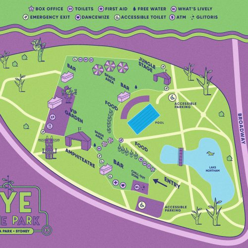 NYE in the Park Map