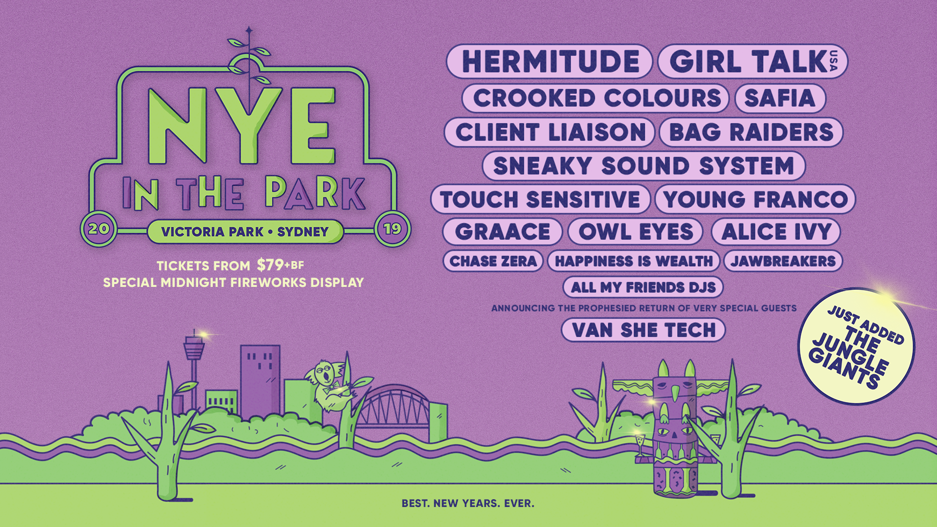 Jungle Giants NYE in the Park 2019
